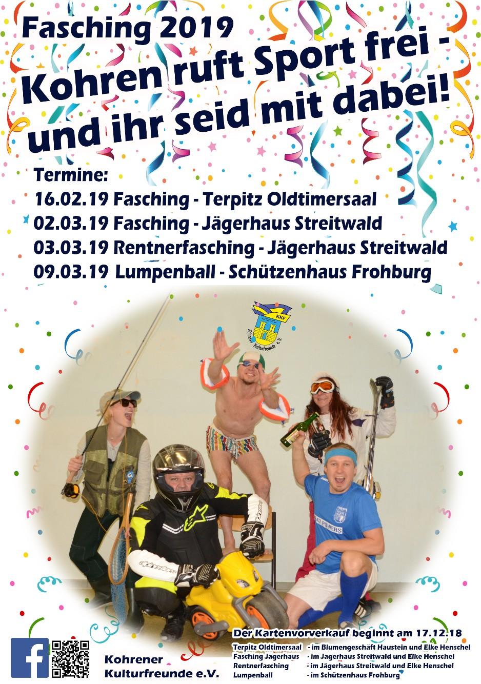 Fasching 2019 Kohrener Kulturfreunde E V